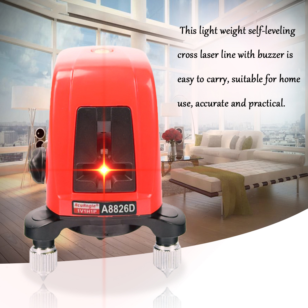 A8826D Mini Portable nivel láser autonivelante 360 profesional Cruz nivelador láser 2 Línea 1 punto rojo línea de construcción nivel láser