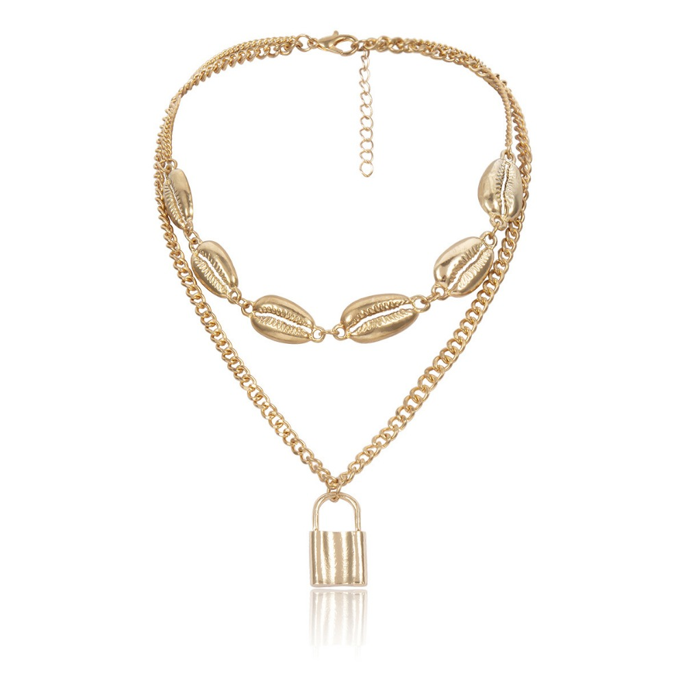 OLOEY 2019 New Necklace Women Fashion Multi layer Pendant Necklaces Punk Boho Ladies Chokers Street Personality Female Jewelry in Pendant Necklaces from Jewelry Accessories