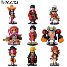 9 Pcs/ set One Piece Luffy Toys Zero Nami Usopp Tony Chopper Sanji Nico Franky PVC Action Figure Model Toy Gift 67 Generation