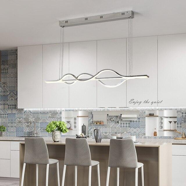 Luces colgantes LED modernas para comedor, cocina, oficina, bar de  aluminio, Lustre, Avize, lámpara colgante techo alto
