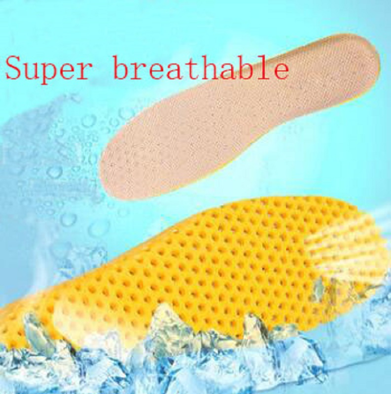 2018 New summer cellular mesh movement plantar fasciitis insoles Sweat absorbing shock absorber unisex orthotic insoles image