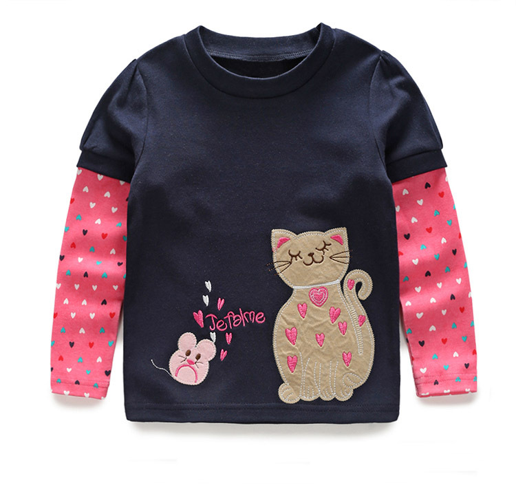 VIDMID Girls t-shirt Children T shirt Baby Girl Long sleeve jacket cardigan shirts Blouse clothes kids cartoon cotton sweater