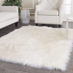 Długi wełniany Faux dywan z owczej skóry włochaty miękki sztuczny futrzany dywan koc mata podłogowa nocna dywan do składania i dywany do salonu|faux sheepskin rug|sheepskin rugcarpets for living room -