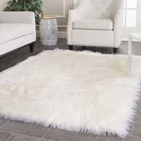 White Faux Sheepskin Rug Long Faux Fur Blanket Decorative Blankets For Bed Carpet Floor Mat Rugs and Carpets For Living Room