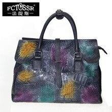 Genuine Leather Bag Shell Women Handbag English Letter Mixed Color Tote Bag Shoulder Messenger Crossbody Bag