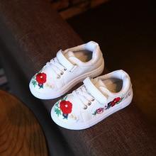 Enfants d'automne Chaussures Filles Baskets Mode Casual Chaussures Avec la Fleur À La Main Broderie Enfants Filles Respirant Chaussures