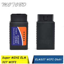 ELM327 WIFI OBD2 OBD II Scanner Diagnostic Tool V1.5 Wifi ELM327 Wireless OBD Code Reader Supports Both Android and IOS