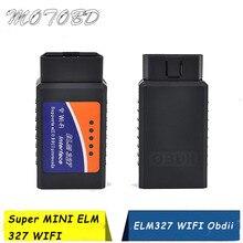 ELM327 WIFI OBD2 OBD II الماسح أداة تشخيص V1.5 واي فاي ELM327 اللاسلكية OBD رمز القارئ يدعم كل من أندرويد و IOS
