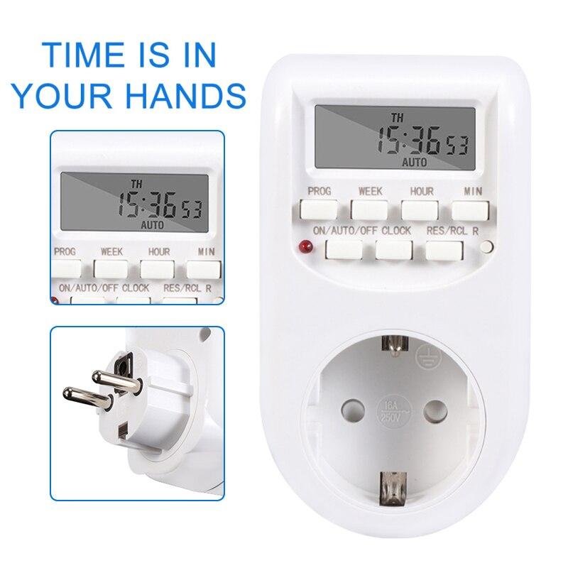 HTB1tQ0fa25G3KVjSZPxq6zI3XXau - Digital Timer Electronic Switches EU Plug Socket Kitchen Timer Outlet 220V 50HZ 10A Programmable Timing Smart Socket