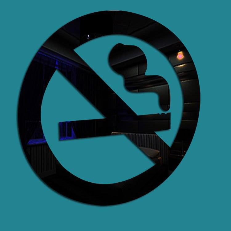 ∞10x10 cm DIY creativo de acrílico no fumar patrón espejo pegatinas ...