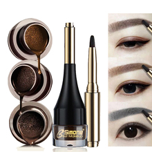 Baru Profesional 4 Warna Alis Enhancer air cushion Henna Alis cream Warna Makeup Natural Waterproof Eye Brow Gel dengan Brush