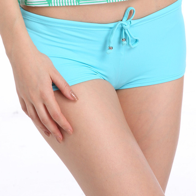 Blauwe Zwembroek.Plus Size Bikini Bodems Vrouw Zwembroek Blauwe Zwembroek Nylon