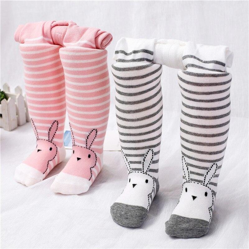 Kids Infant Baby Knee High Socks Cotton Tights Leg Warmer Stockings 0-36 Months