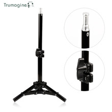 42CM/1.4ft Mild Stand Tripod With 1/four Screw Head For Picture Studio Desktop Mild Lamp Stand Video Lamp Holder