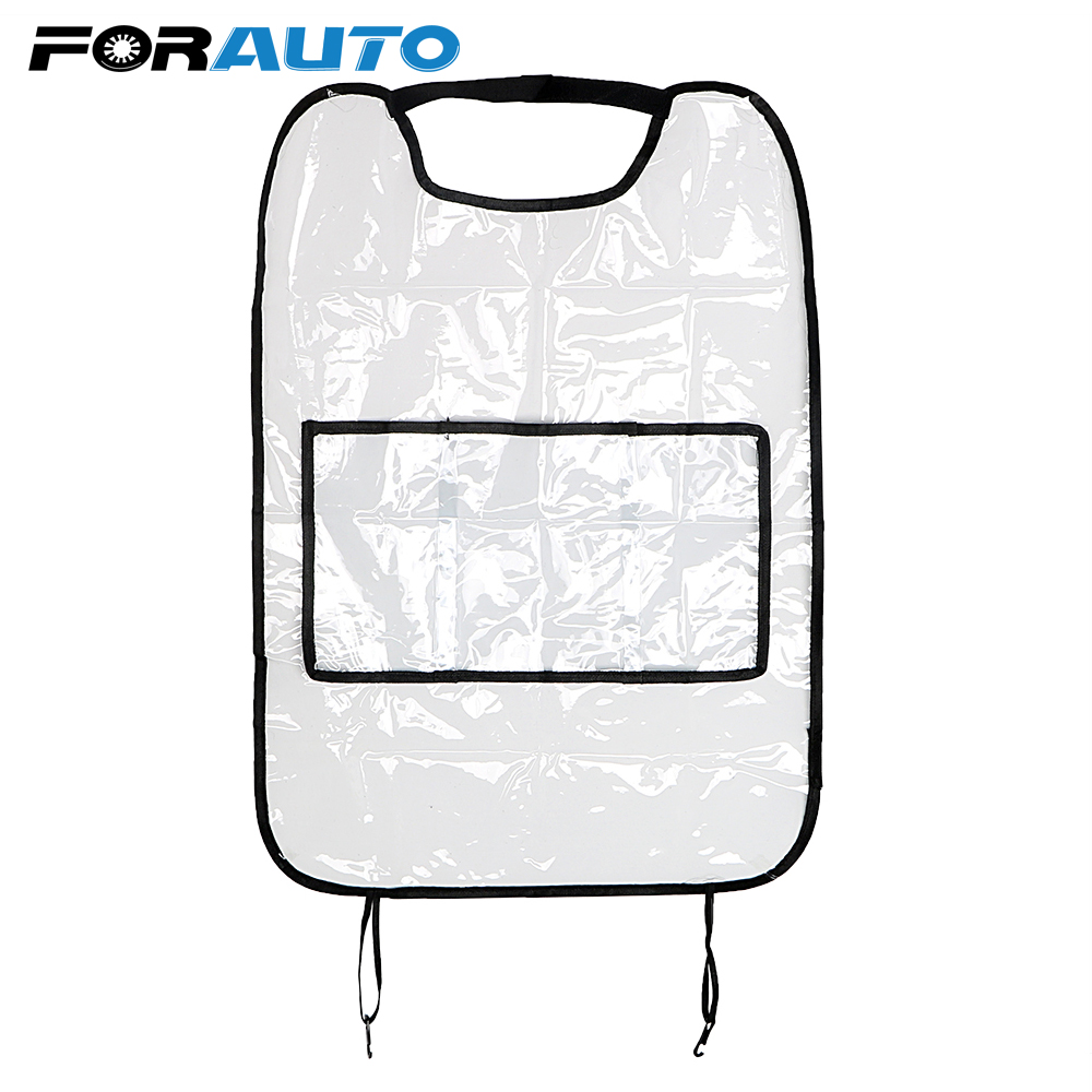 Car Anti kids Kick Pad With Storage Bags Car Seat Covers Organizer For Children Kick Mud Mats Seat Back Protector Accessories