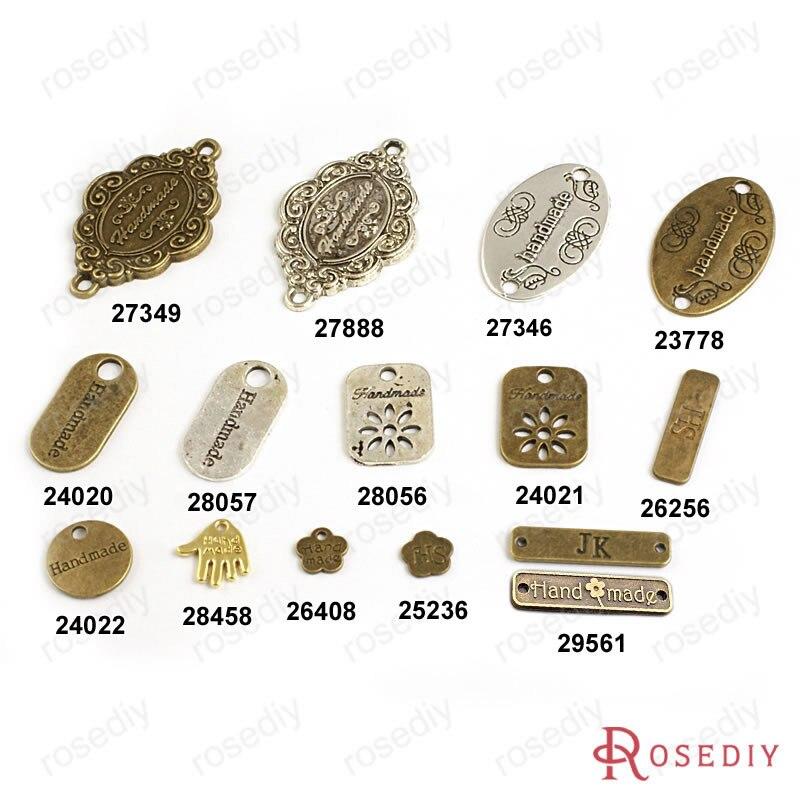 (17406) Großhandel Runde Oval Blumen Hshape Handgemachte Charme Anhänger Zubehör Mehr Arten Können Abgeholt Diversifizierte Neueste Designs