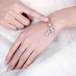 Image 3 - JewelryPalace البومة الأسرة 925 فضة الخرز Charms الفضة 925 الأصلي لسوار الفضة 925 الأصلي صنع المجوهرات
