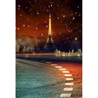 Dreamlike Eiffel Tower photography background road sign photography backdrops for photo studio props photophone CM 6969