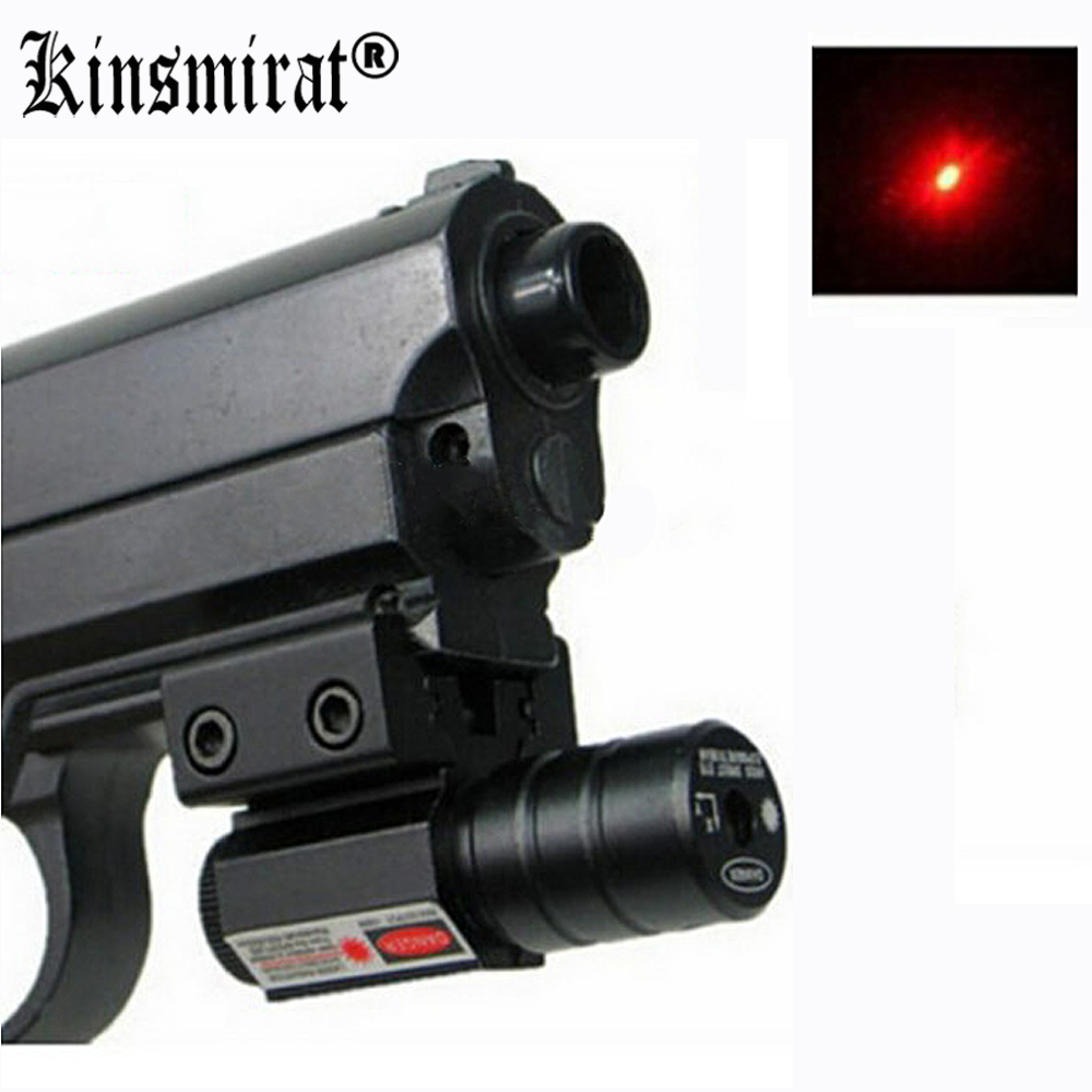 Red Dot Laser Pointer 50-100 Meters Range 635-655nm Lasers Sight Pistol Adjustable For 11mm 20mm Picatinny Rail ...