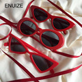 Vintage Red Sunglasses Women New Year Gifts Cat Eye / Love Heart / Triangle Sun Glasses For Women Shades UV400