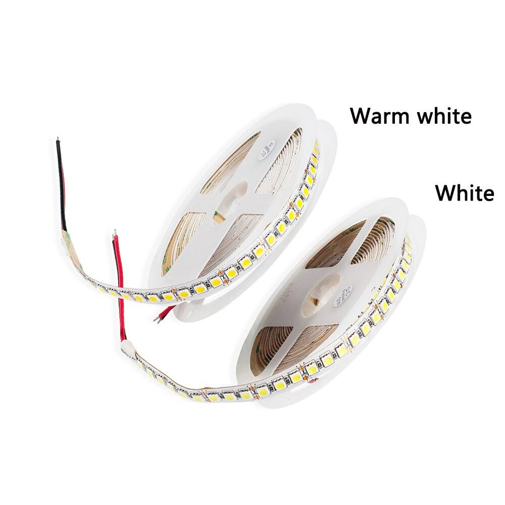 DC12V LED strip 5050 120LEDs/m,5M White / White warm Super Bright 5050 LED Flexible Strip Light