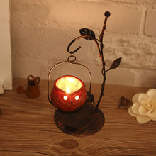 Owl Candlestick Iron Candle Holders Decorative Ornaments Cafe Home Decoration Resin Lanterns Candles Creative Christmas Gifts