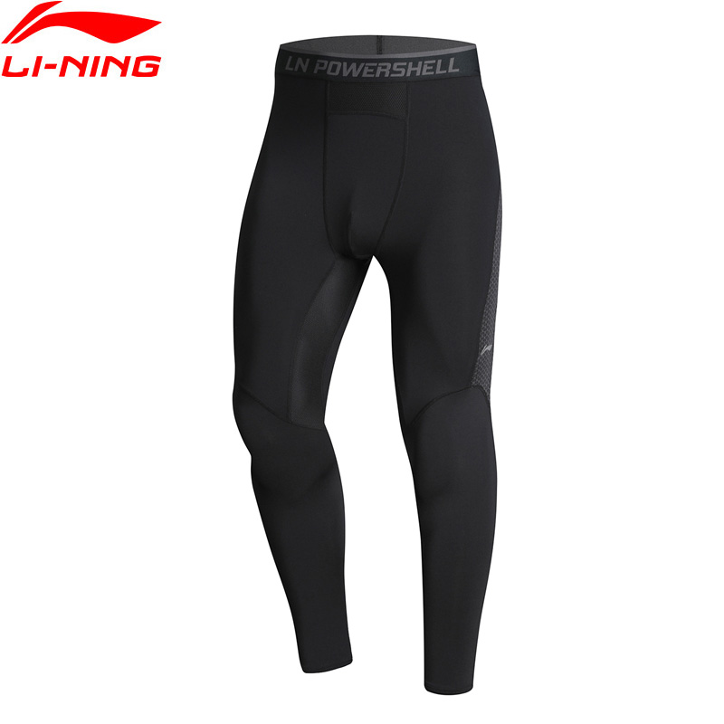 Li-Ning Men Training Series Tights Base Layer Nylon Spandex Breathable Tight Fit LiNing Comfort Sports Pants AULN049  MKY400