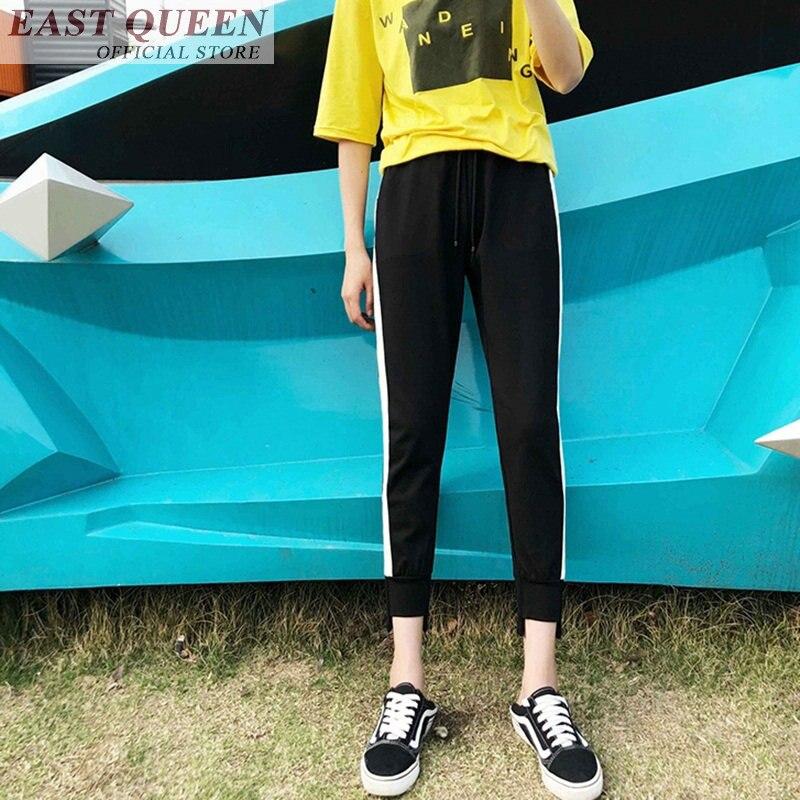Track pants women harem drawstring joggers women sweat pants female trousers sweatpants streetwear youth clothing DD761 a