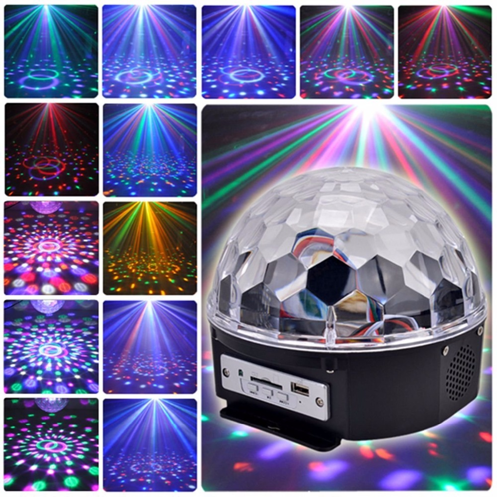 Led Wall Dj Light: Aimbinet 6 LED With MP3 Player Disco Dj Stage Lighting 18W