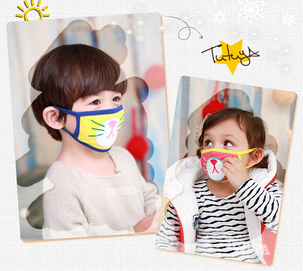 baby Mask Respirator Cat Cotton soft Shipping Mouth Child Free