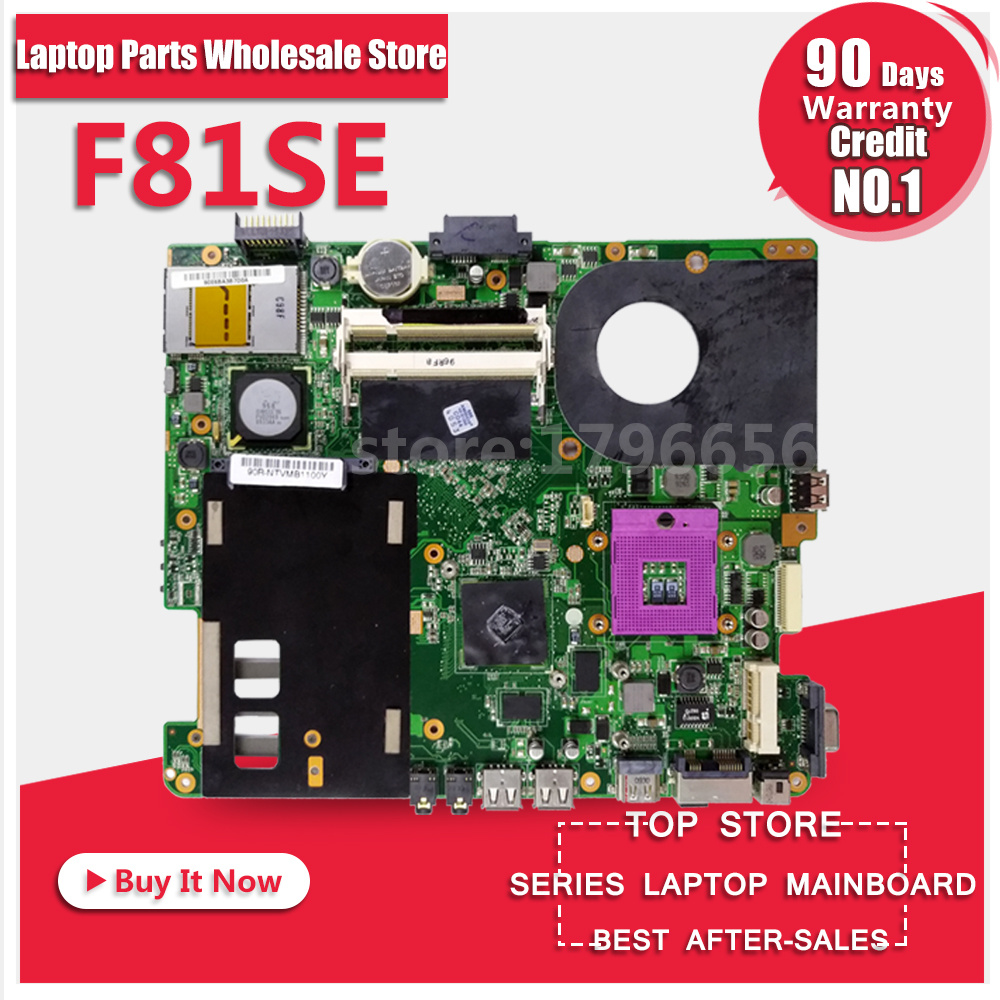 For ASUS X88S X83S F83S F81S F83SE F81SE Laptop Motherboard System Board Main Board Card Logic Board Tested Well 100% working laptop motherboard for asus u50vg system board fully tested