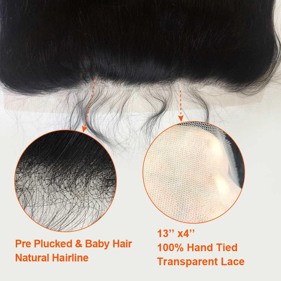 HJ Weben Schönheit Indische Körper Welle Transparent Spitze Frontal Verschluss 100% Menschenhaar Ohr Zu Ohr 13*4 Spitze frontal