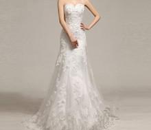 free shipping 2014 hot&sexy vestido de noiva bridal gown romantic spot goods formal lace crystal mermaid vintage wedding dress