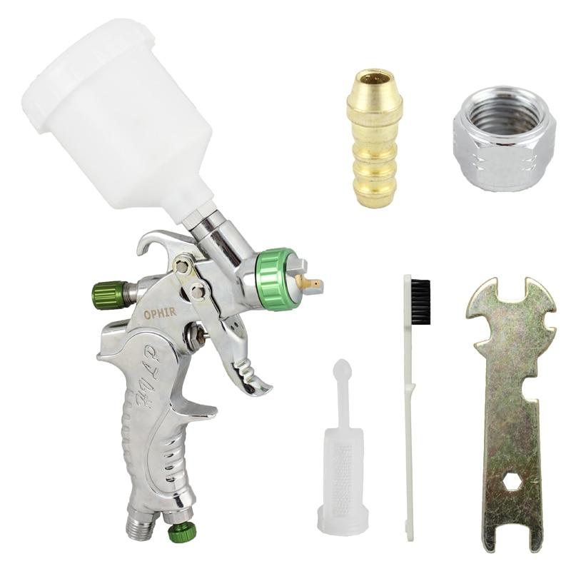 OPHIR RÉSZLETES TOUCH-UP HVLP SPRAY GUN permetezőfestés Autófesték foltjavítása műanyag pohárral 120CC _AC046 (1.0MM)