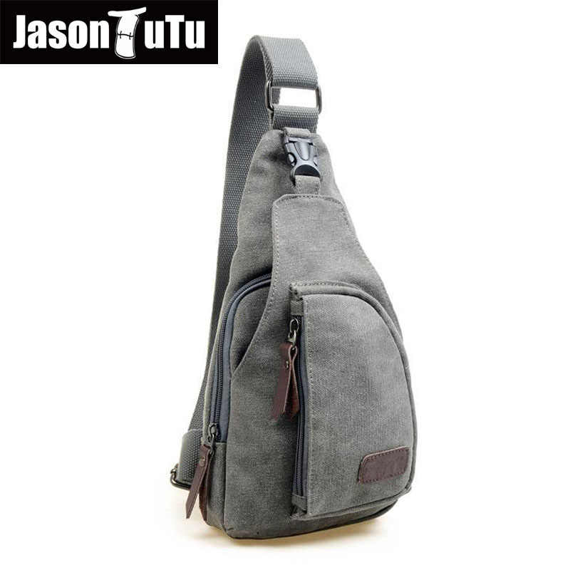 b694d0d4034f Man Chest sling crossbody bag Canvas Messenger Casual Travel Chest Bag Back  Pack Men's Shoulder Bag Big small Two sizes Travel