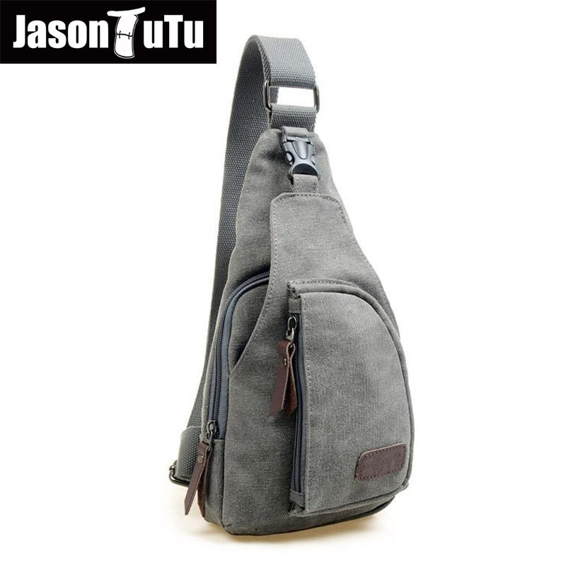 Man Fashion Messenger Casual Travel Chest Bag Canvas Crossbody Back Pack Men's Shoulder Bag Multifunction Small Travel Bag