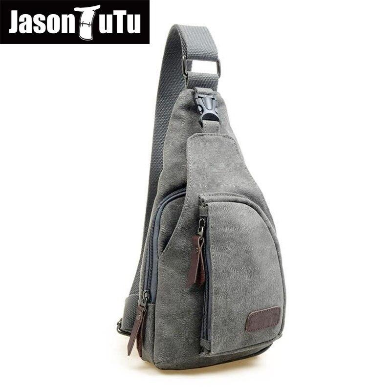 Man Fashion Messenger Casual Travel Chest Bag Canvas Crossbody Back Pack Men's Shoulder Bag Multifunction Small Travel Bag