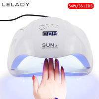 SUNX 54W UV Lamp LED Nail Lamp With Infrared Sensing 30/60/90s Timer Smart Touch Button Nail Dryer Manicure For All Gels Polish