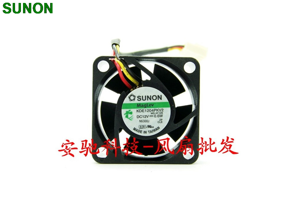 SUNON 4020 40mm 4cm DC 12V 0 6W KDE1204PKV2 3 line silent axial cooling fans