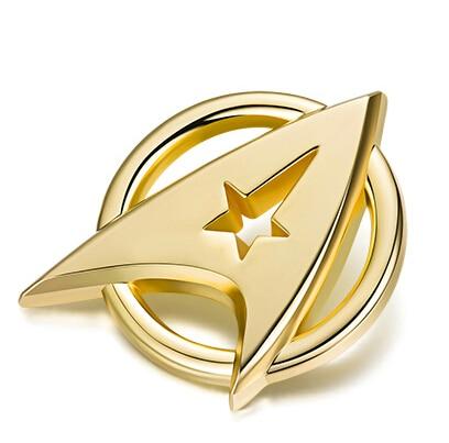 Star Trek Starfleet Command Division Golden Badge Alloy+Gold-plated StarTrek Command Insignia Cosplay Brooch Pin