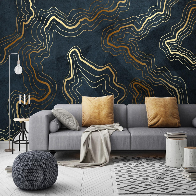 Custom Mural Wallpaper Modern Abstract Geometry Photo Wall Paper Living Room Study Luxury Decor Self-Adhesive Waterproof Sticker