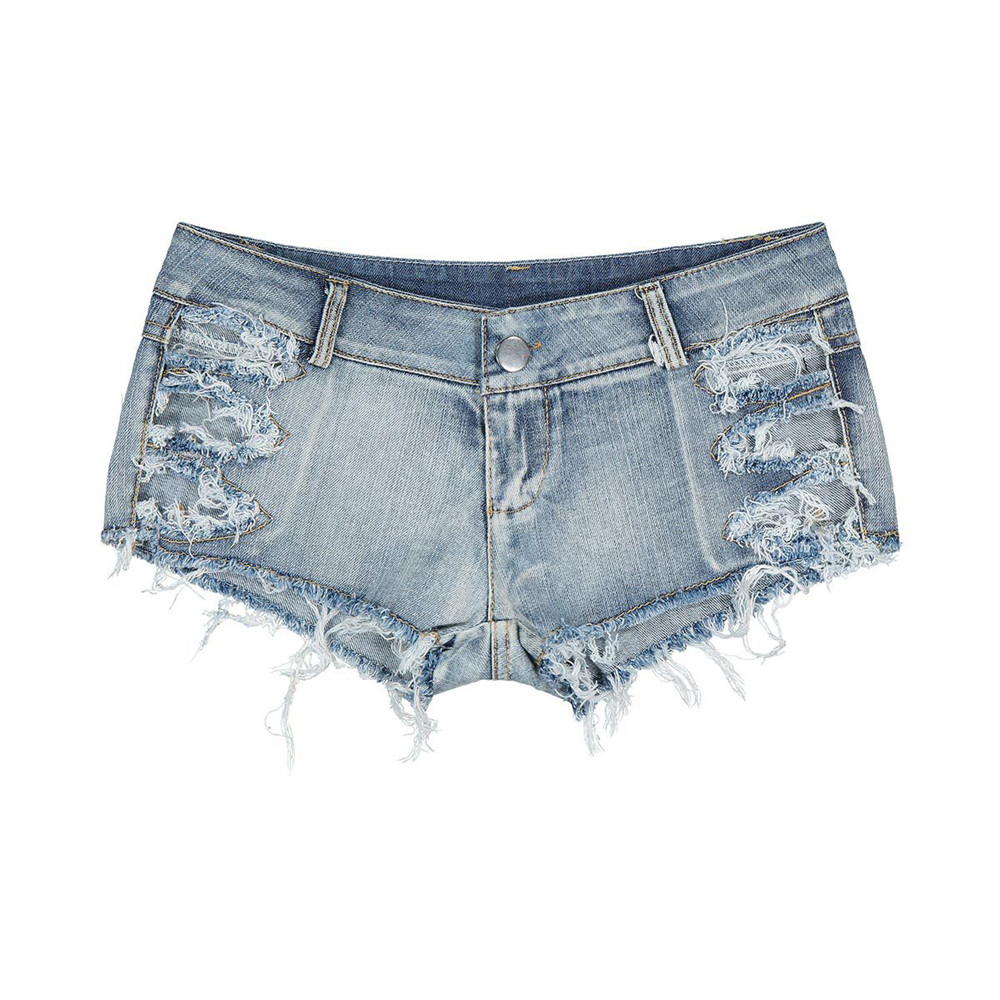 New Fashion Whole Cotton Blue Hollow Out Hair Edge Sexy Nightclub Mom Jeans Woman Befree Shorts Women Jeans Short Feminino Modis