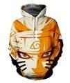 Naruto Sasuke Anime 3d Camisola Do Hoodie Masculino Homens Jaqueta de Manga Longa Pullovers Outerwear Uma Peça Anime