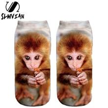 SLMVIAN, несколько цветов, модный стиль, Прямая поставка, носки, 3D принт, унисекс, милые, с низким вырезом, женские носки
