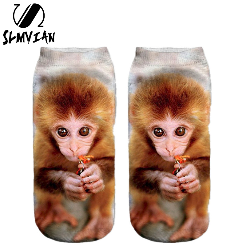 SLMVIAN Multiple Colors Fashion Style Drop Shipping Sock 3D Printed Unisex Cute Low Cut Ankle Women Socks