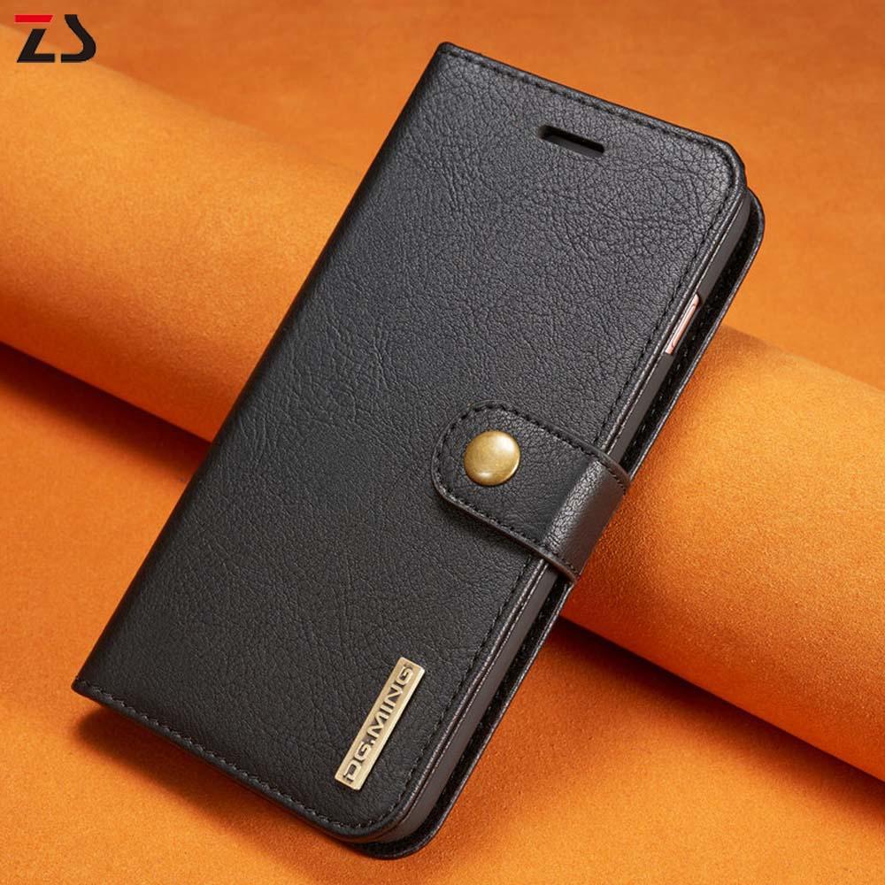 bilder für Vintage fällen für iphone 7 7 plus brieftasche case mit abnehmbare back decken echtledertasche für iphone 6 6 s plus 6 plus dg. ming