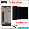 Sinbeda High Quality For Xiaomi Redmi Note 4 LCD Display Touch Screen Glass Digitizer Assembly With
