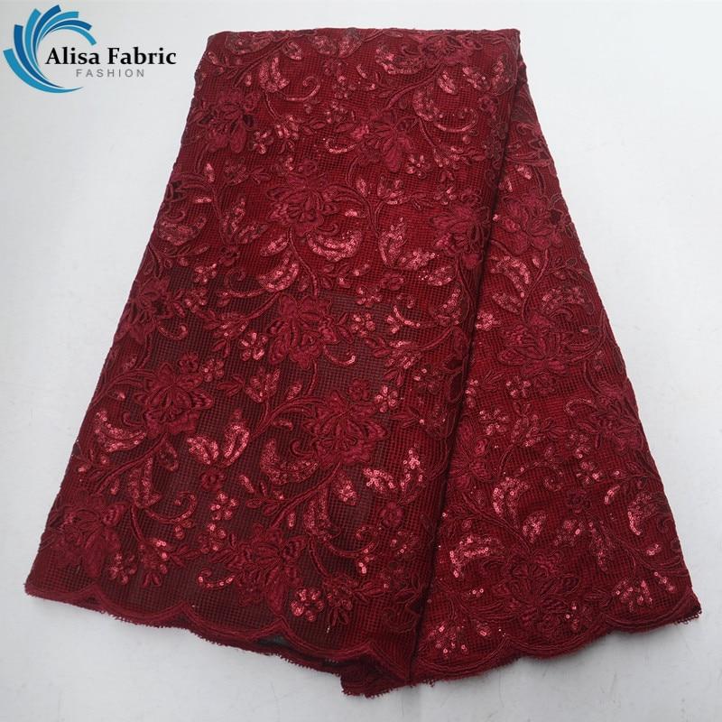 세련 된 핑크 아프리카 레이스 패브릭 스팽글 5 야드 아프리카 코드 레이스 원단 아프리카 자 수 드레스에 대 한 높은 품질-에서레이스부터 홈 & 가든 의  그룹 2