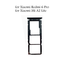 for Xiaomi Mi a2 lite Card Tray Holder SIM Micro SD Card Slot Adapter Holder for Xiaomi Redmi 6 Pro Repair Replace Parts cheap for Xiaomi MiA2 Lite for Xiaomi Redmi 6Pro IMIDO