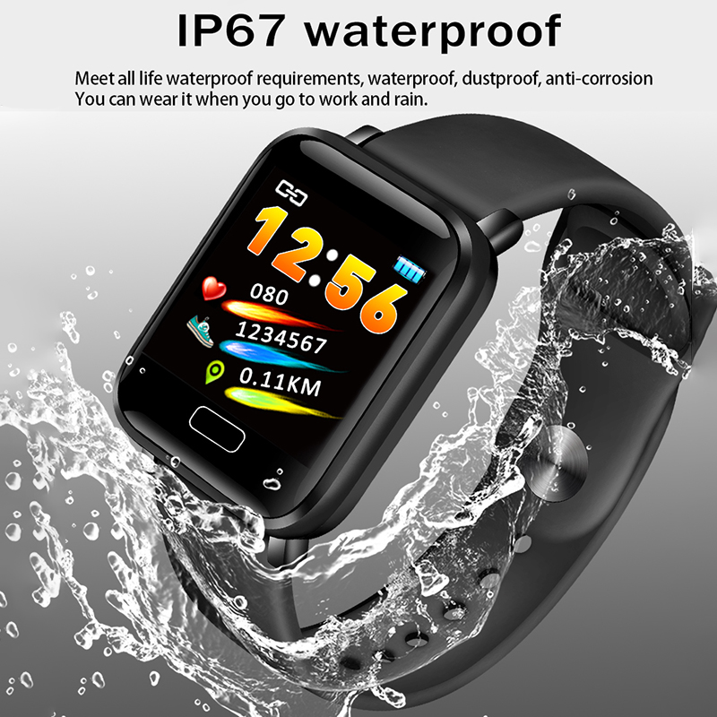 LIGE New Smart Bracelet Men Sport Watch Smart Wristband Blood Pressure Heart rate Monitor Pedometer Fitness Tracker Watch band in Smart Wristbands from Consumer Electronics
